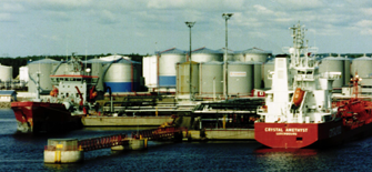Tankers in port